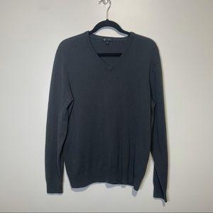 J.Crew 2ply Italian Cashmere Vneck Sweater Gray M